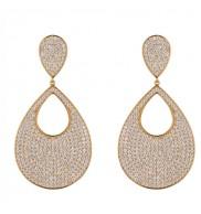 18K Gold pLated Dazzling CZ earrings